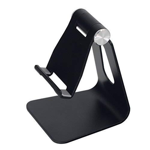 Olusar Handyhalterung Handy Tisch Halterung Multi-Winkel für Smartphone Tablet (Schwarz)