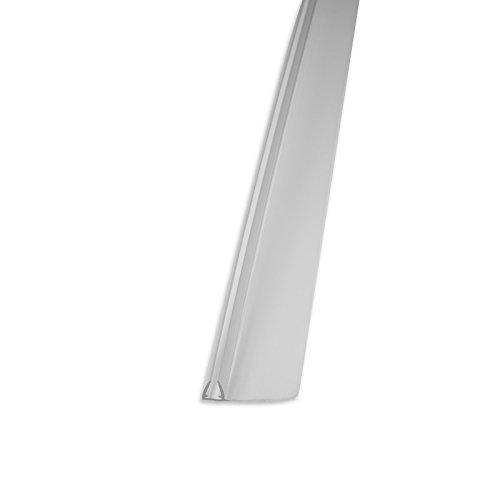 Perfiles paragocce para mampara de ducha 4 modos de paragocce verticales para puertas correderas Mampara de baño de cristal con cristal grosor mm. 3-4-5 ala prolongada mm.28 (número de unidades por paquete de 4)