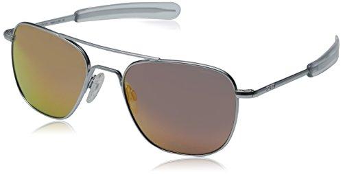 FAPIR Herren Aviator Sonnenbrille Polarisierte Verspiegelt Eckig 55mm UV400 Schutz 8qsQ6W