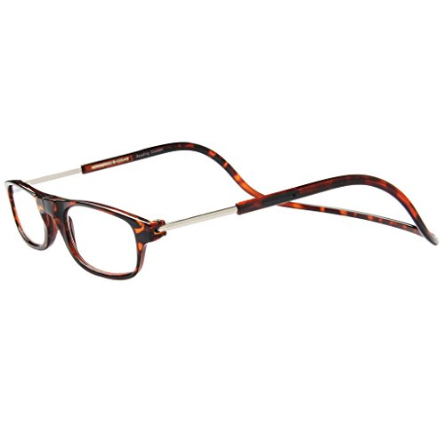 Jee gafas de lectura hombre mujer reading glasses con iman OL02(leopardo,+2.50)