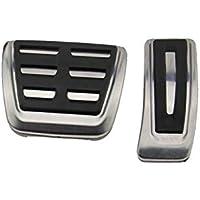 Eleganantstunning Auto Anti-Rutsch-Fu/ßpedal manuell//Auto Gear Gaspedal Bremspedal Abdeckung Laufset Universal Anwendungshandbuch Silber