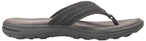 Skechers Evented Rosen Pantolette Anthrazit