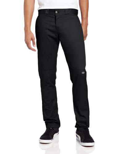 Dickies Herren Hose Skinny Straight Fit Double Knee Wor Schwarz (Black Bk)