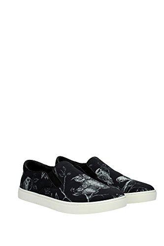 Slips-on Dolce & Gabbana homme en cuir et tissu noir - Code modèle: CS1365 AR265 8Q811 Bleu
