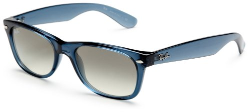 Ray Ban Für Mann Rb2132 New Wayfarer Transparent Light Blue / Grey Gradient Kunststoffgestell Sonnenbrillen, 52mm
