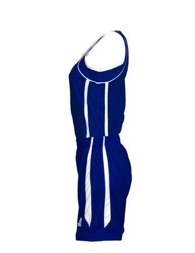 Peak Sport Europe Uniforme de basket-ball Maillot et Short pour femme Bleu - Bleu roi/blanc