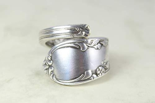 Rokoko Besteck Schmuck Ring, ca. 63 (20,1) Ring aus Besteck