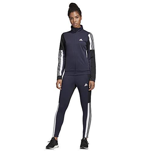 adidas Women TS Team Sports, Tuta Donna, Legend Ink/Nero/Bianco, M 44-46