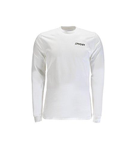 Spyder Mountain T-Shirt, langärmelig, gestreift, Bio-Baumwolle, Herren, Mountain Stripe Organic Cotton Long Sleeve T-Shirt, Organize Salt/Organic Salt, Large -