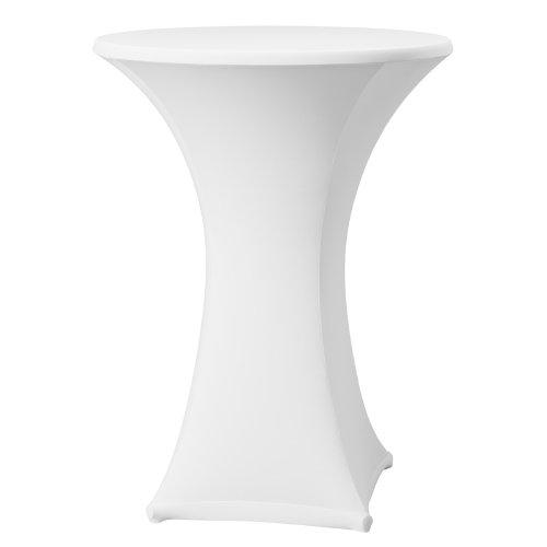 Dena 023181 Stehtischhusse Samba für Stehtische, Durchmesser 80-85 cm, weiß