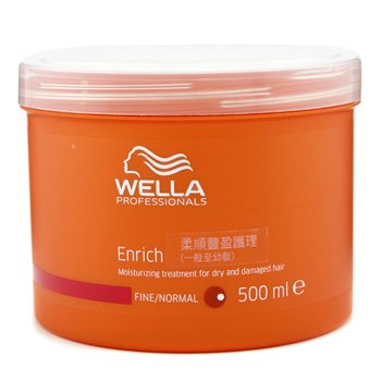 Wella Enrich Moisturizing Treatment For Dry & Damaged Hair (Normal/Thick) 500ml