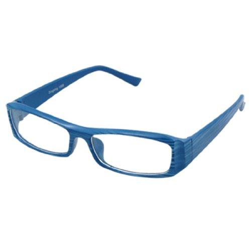 sourcingmap Unisex Blau Holzmaserung Stil-kunststoff voll-Felge Klarglas Brille DE de