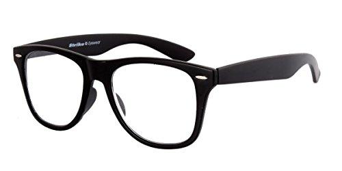 STRIKE Eyewear Lesebrille Lesehilfe runde Retro Form matt schwarz +3