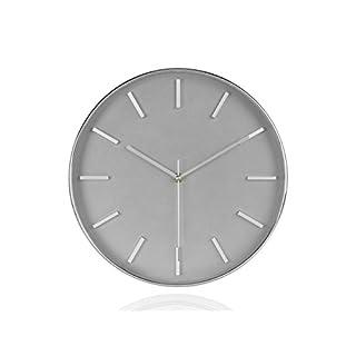 Andrea House–Uhr Wand Chrom Ø30x 4,5cm (ax17052)