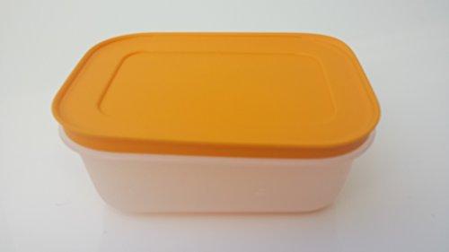 Tupperware Gefrierbehälter eingefrieren orange pink Behälter mit Deckel auslaufsicher Kühltruhe Gefriertruhe (orange)