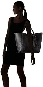 Clarks - Moroccan Charm, bolso de mano Mujer, Negro (Black), 54x35x13.5 cm (B x H x T) de Clarks (CLKS5)