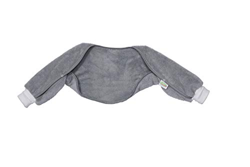 Odenwälder Ärmelinchen | Schlafsackärmel Babyschlafsack | Schlafsack Ärmel für Babyschlafsäcke, Größe:70, Design:Graphite