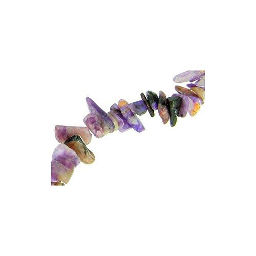 Fil de chips perles en charoite violet naturel - collier 42cm