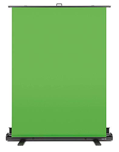 Elgato Green Screen Ausfahrbares Chroma-Key-Panel (zur Hintergrundentfernung mit automatisch arretierendem Rahmen, knitterfreies Chroma-Green-Material in Aluminium-Koffer), (148x180 cm) -
