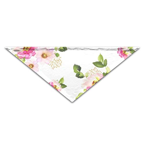 4 Pink Florals Pink Hair Mermaid Mix U0026 Match Dog Cat Puppy Personalized Collar Bandana,Adjustable Triangle Bibs Scarfs Accessories Match Floral Leggings