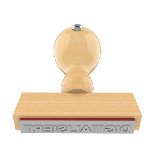 Holzstempel DIGITALISIERT in 55x10 mm, 1-zeiliger Text in Arial fett, 18 pt, klassischer Firmenstempel - 55 Fett