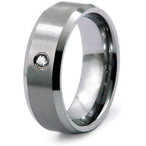 Anillo de 0.05ctw Diamante de Carburo de Tungsteno Banda 8mm