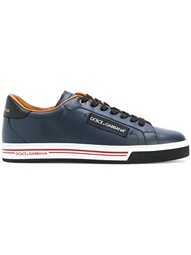 DOLCE E GABBANA Herren Cs1572an1758e670 Blau Leder Sneakers (& Gabbana Leder Sneakers Dolce)