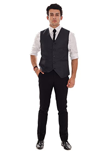 Ellegent Exports Mens Waistcoat Black M Special Eid Gift For Him, Boy,...