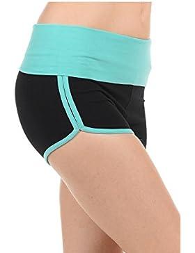 Athletic Esecuzione di Esercizio a vita alta Palestra Yoga Booty Foldover Dolphin Breve