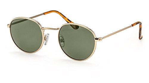 Filtral Runde Sonnenbrille/Filigrane Sonnenbrille aus Metall im angesagten Retro Look für Damen und Herren F3023508
