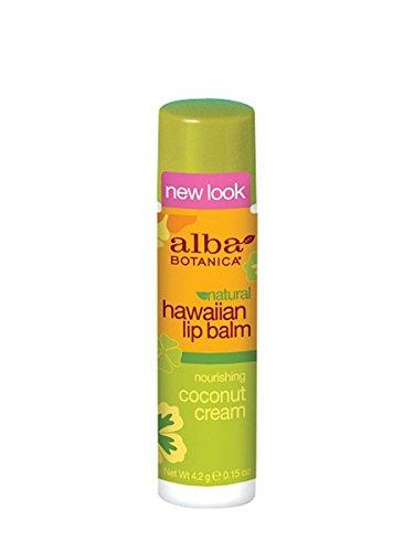 Coconut Cream Lip Balm 0.15 Ounces (Lippenpflege) - Alba Botanica Coconut Lip Balm