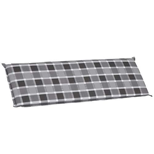 greemotion almeria cuscino per panca da giardino, grigo
