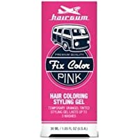 Hairgum Fix Color Temporary Hair Coloring Styling Gel - Pink 1 oz. (Pack of 6)