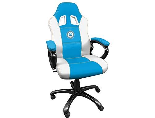 Subsonic Siege gaming baquet - Fauteuil gamer avec assise ergonomique - Chaise de bureau et de jeu pivotante - OM Olympique de Marseille