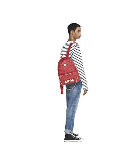 MCM Damen Trilogie Stark Backpack Rucksäcke, rubinrot, Einheitsgröße