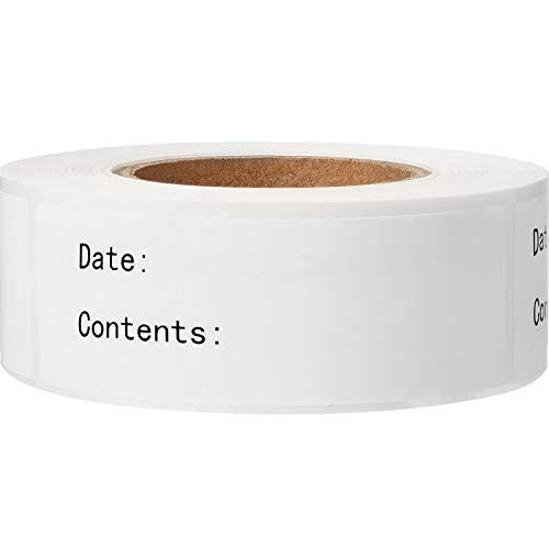 300 Stücke Abnehmbare Gefrierschrank Etiketten 1 x 3 Zoll Lebensmittel Lagerung Aufkleber Kühlschrank Gefrierschrank Papier Etiketten (Schwarz)
