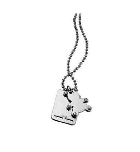 Dolce & Gabbana Jewels D&G Peace PENDENT SS Bear Shape/Studs/Back Plate DJ0741 Female Jewels Dolce Gabbana