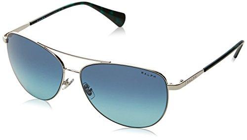 Ralph Lauren Ralph by Damen 0RA4122 31614S 59 Sonnenbrille, Silver/Blueetealgradient