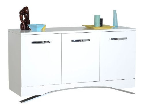 SMOOTH Bahut 150 cm - Laque blanc brillant