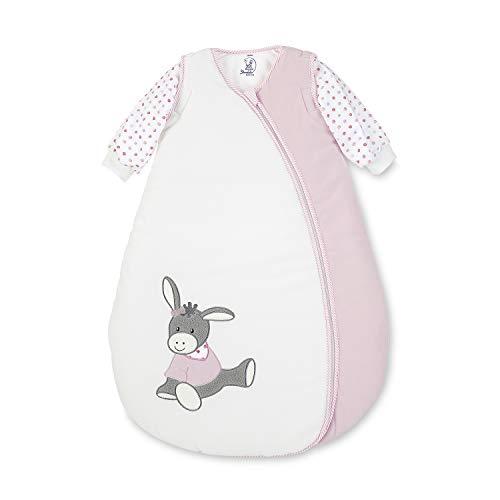 Sterntaler Schlafsack für Kleinkinder, Abnehmbare Ärmel, Wärmeregulierung, Reißverschluss, Größe: 70, Emmi Girl, Weiß/Rosa