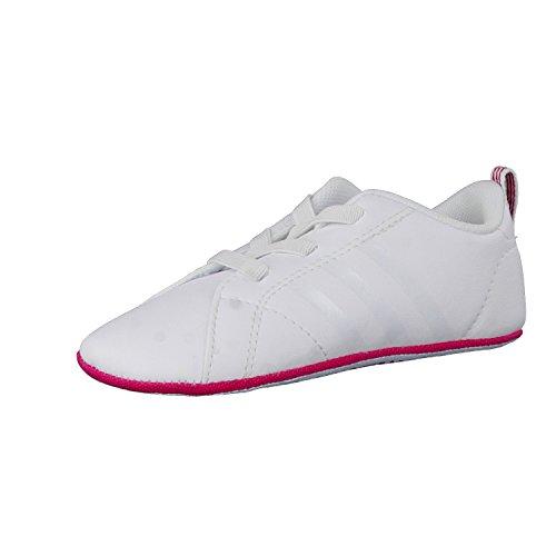 adidas Vs Advantage Crib, Scarpe da Ginnastica Unisex – Bambini Bianco (Ftwbla/Ftwbla/Rosfue)