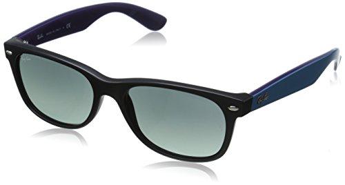 Ray Ban Unisex Sonnenbrille RB2132, Gr. 52mm (Gestell: schwarz, Gläser: grau verlauf dunkel grau)