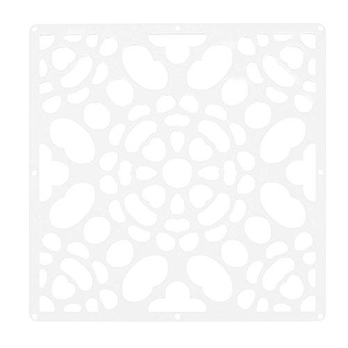 sourcing map Haushalt Aushöhlen Raumteiler Hängender Vorhang Dekor Weiß 29cm x 29cm DE de