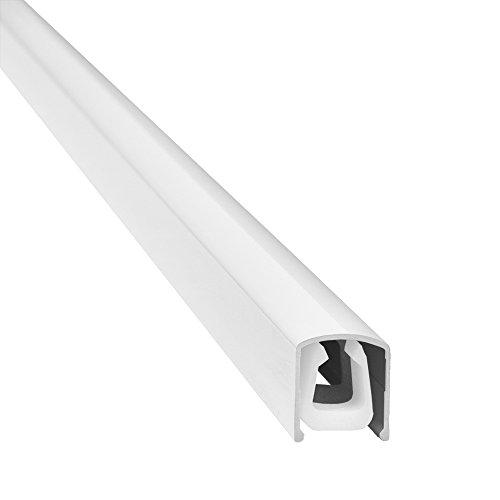 """Design Alu Kabelkanal \""""SLIM SHADE\"""" für TV , PC etc. - weiß glänzend (Klavierlackoptik) - Länge 110cm - extra schmal - 110 x 1,6 x 1,8 cm - Verkleidung aus Aluminium - einfache Installation"""