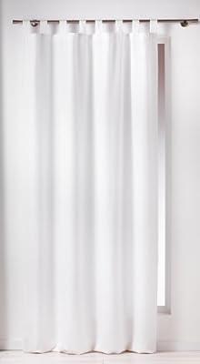 Douceur D'Intérieur  - 1600515, Cortina Trabillas , 140 X 260 Cm , Essentiel , Poliéster Liso , Blanco