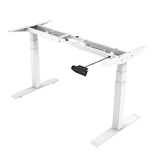 Flexispot E6W Höhenverstellbarer Schreibtisch Elektrisch höhenverstellbares Tischgestell 3-Fach-Teleskop, mit Memory-Steuerung und Softstart/-Stop & integriertes Anti-Kollisionssystem
