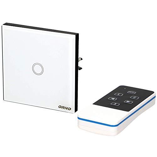 Orno GB-422 Kristallglas Funk Lichtschalter mit Fernbedienung    fi 60 Unterputz    LED Kompatibel    300W max.
