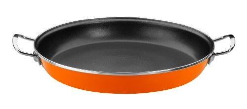 Monix Mandarina - padella, 36 cm, acciaio smaltato, con rivestimento in Teflon® Classic antiaderente, Orange.