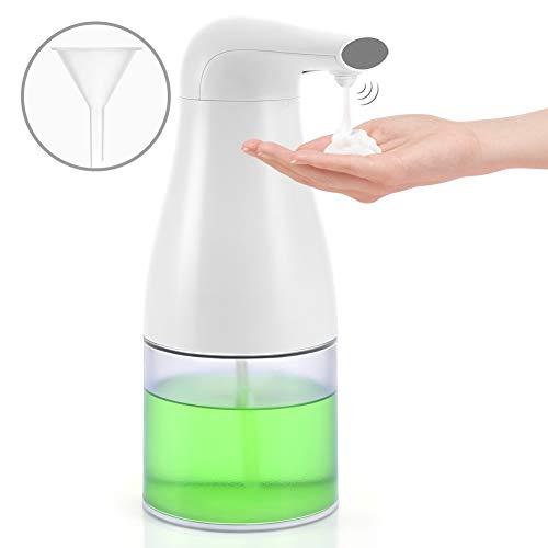 Merisny Dispensador de Jabon de Espuma Automático, Sensor Infrarrojo Sin Contacto, 400ML, Ideal para Baño Cocina Loción Líquida - Blanco