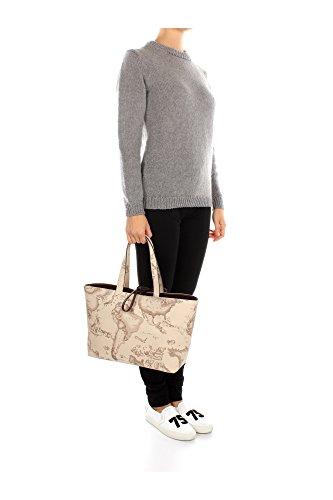 ALVIERO MARTINI SHOPPING BAG E/W - GG099385 0500 DARK BROWN/BEIGE